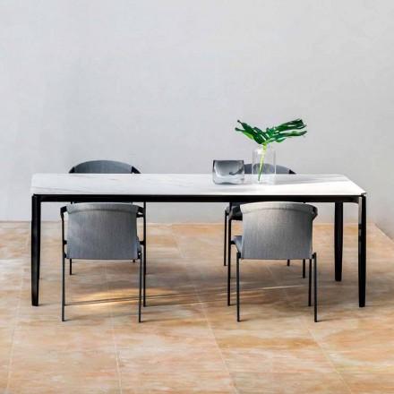 Tavolo Pranzo da Giardino in Alluminio e Hpl o Gres, Varie Finiture - Filomena