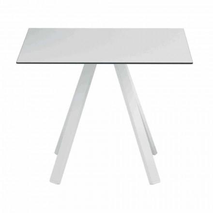Tavolo Quadrato da Esterno in Metallo e HPL Made in Italy - Deandre