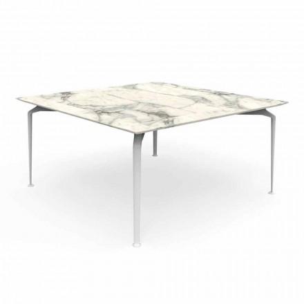 Tavolo Quadrato da Esterno Design Moderno Gres e Alluminio – Cruise Alu Talenti