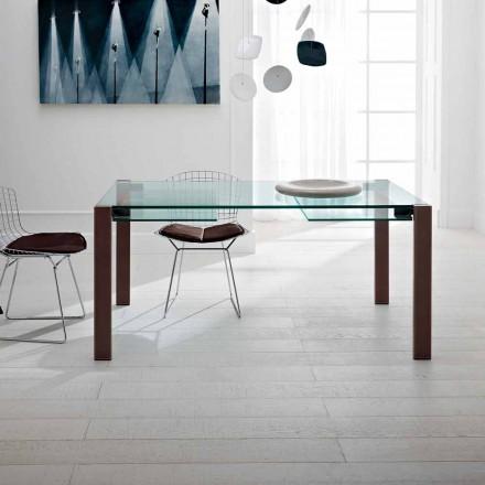 Tavolo Allungabile Fino a 280 cm in Vetro Trasparente Made in Italy – Sopot