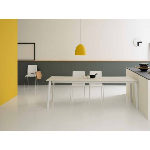 Tavolo Rettangolare Moderno.Tavolo Rettangolare Allungabile Moderno Con 6 8 Posti Sellia Basic