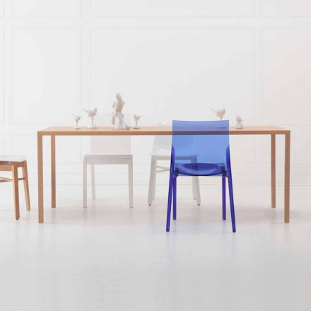 Tavolo Rettangolare da Pranzo Design Moderno in Legno Rovere Naturale - Astuto