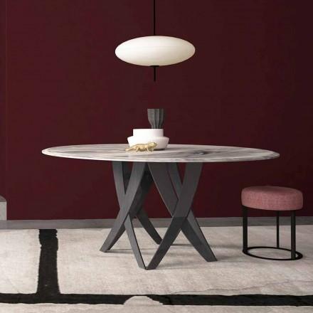 Tavolo Rotondo Diametro 140 cm in Marmo Imperial Grey Made in Italy – Montereale