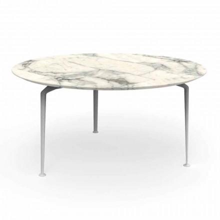 Tavolo Rotondo Esterno di Design Moderno Gres e Alluminio – Cruise Alu Talenti