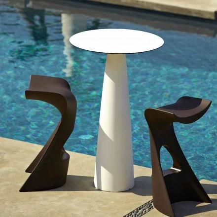 Tavolo da giardino rotondo in polietilene e hpl Slide Hoplà(H110)