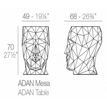 Tavolo / sgabello per esterno di design Adan by Vondom, in polietilene