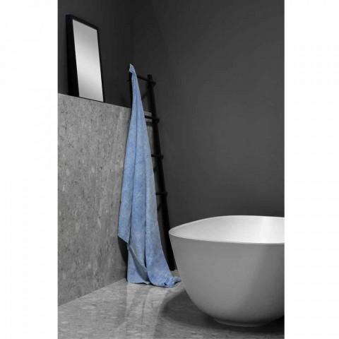 Telo da Bagno in Lino Pesante Azzurro Design di Lusso Italiano - Jojoba