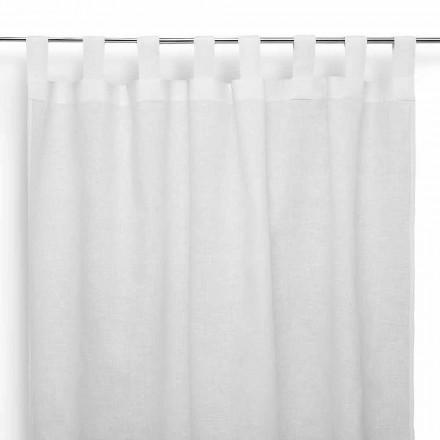Tenda a Bastone in Puro Lino Bianco Panna Made in Italy – Solenne