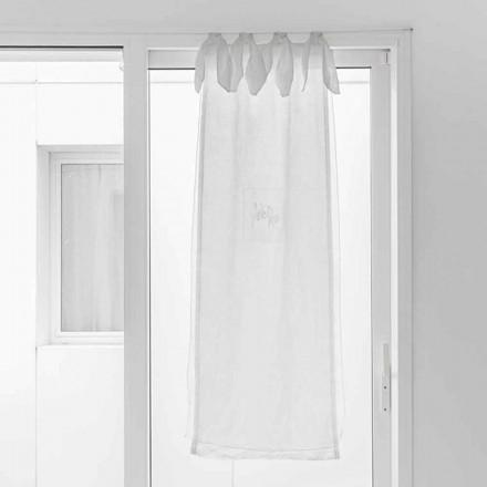 Tenda a Vetro con Garza di Lino e Organza Bianca Design Elegante - Tapioca