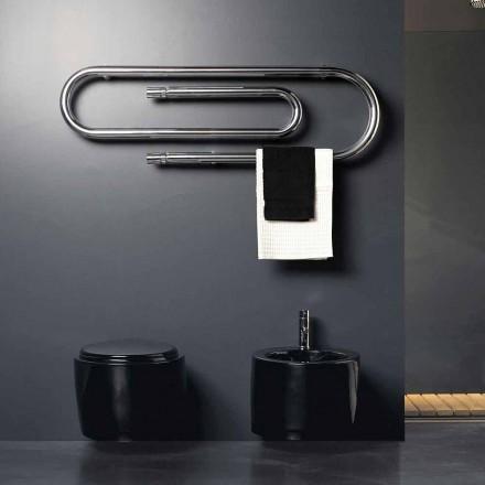 Termoarredo design Graffe idraulico con finitura cromata by Scirocco H