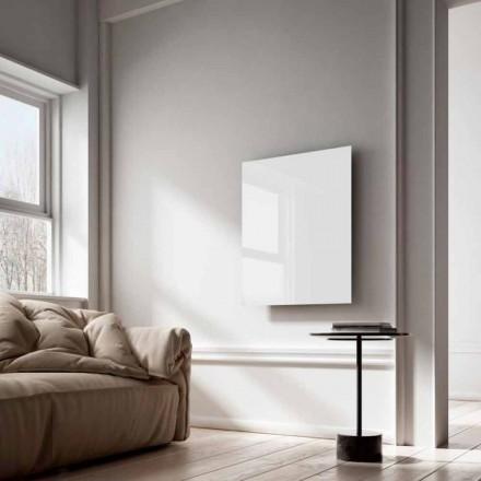 Termoarredo elettrico a raggi infrarossi design in vetro bianco Clear