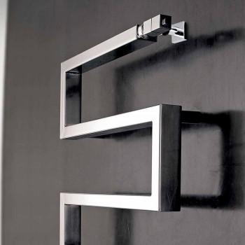 Termoarredo elettrico cromato dal design moderno Snake by Scirocco H