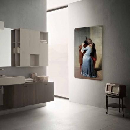 Termoarredo elettrico design moderno personalizzabile con foto Jonny