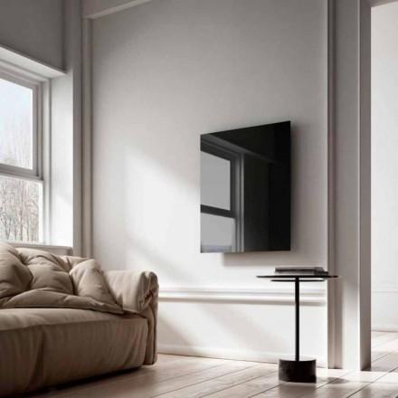 Termoarredo elettrico di design a raggi infrarossi in vetro nero Clear