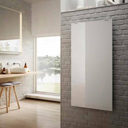 Termoarredo elettrico in vetro bianco di design Star, made in Italy