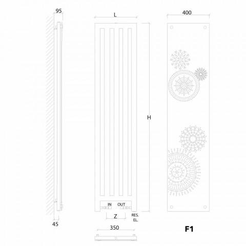 Termoarredo elettrico verticale con cover di design New Dress Scirocco H