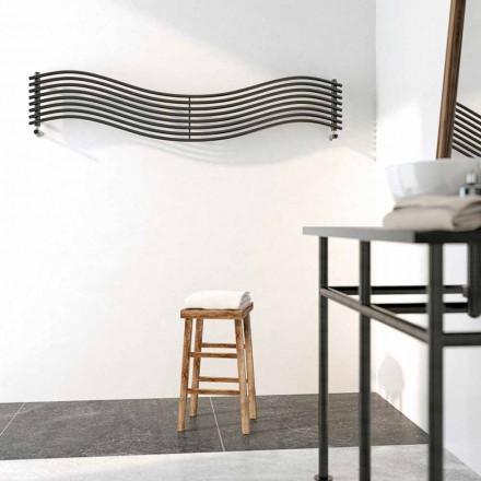 Termoarredo idraulico design moderno in acciaio Wave by Scirocco H