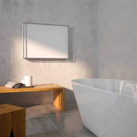 Termoarredo idraulico di design, cover in acciaio, Scirocco H Light