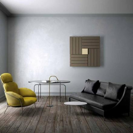 Termoarredo idraulico quadrato design made in Italy Square Scirocco H