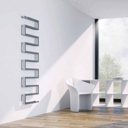 Termoarredo verticale idraulico finitura cromata Snake by Scirocco H