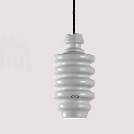 Toscot Battersea lampada a sospensione in ceramica bianca