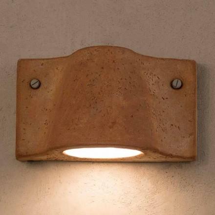 Toscot Lido lampada a muro interno/esterno terracotta made in Italy