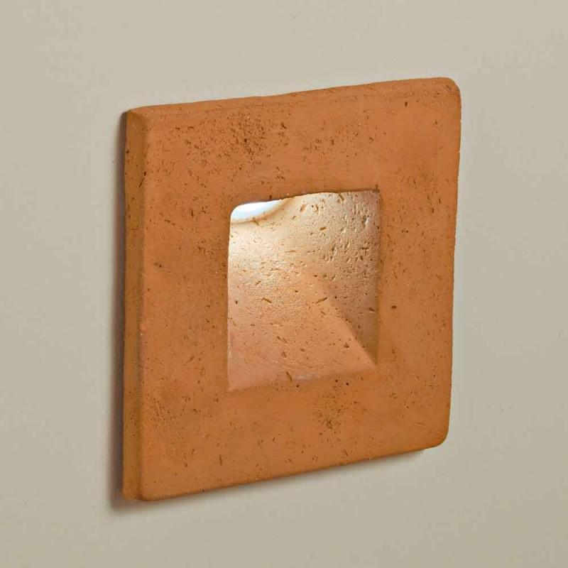 Toscot Square applique a LED quadrata per esterno in terracotta
