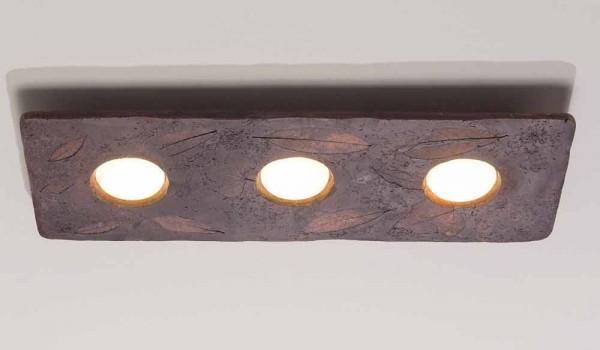 Toscot vivaldi applique in terracotta di design made in italy