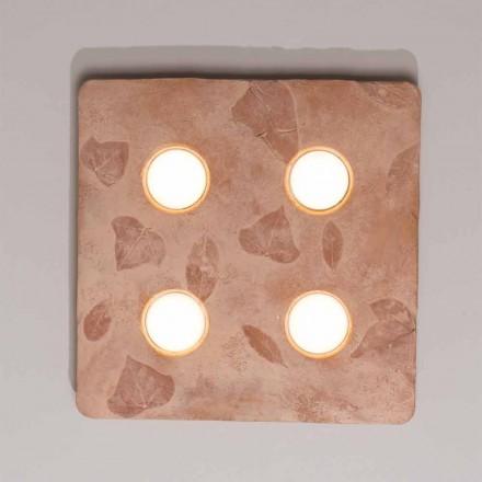 Toscot Vivaldi lampada da muro di design in terracotta made in Italy