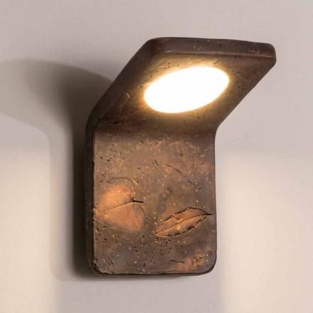Toscot Vivaldi lampada da muro fatta a mano in terracotta in Italia