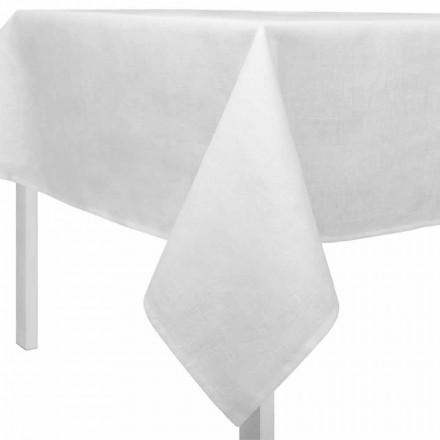 Tovaglia in Lino Bianco Panna, Rettangolare o Quadrata Made in Italy – Blessy