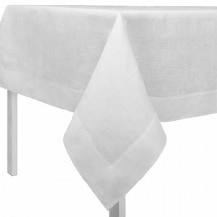 Tovaglia Lino Bianco Panna, Rettangolare o Quadrata Made in Italy – Poppy