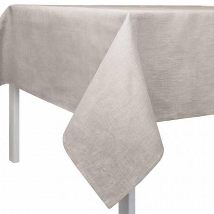 Tovaglia Quadrata o Rettangolare in Lino Colore Naturale Made in Italy – Blessy
