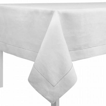 Tovaglia Rettangolare o Quadrata in Lino Bianco Panna Made in Italy – Chiana
