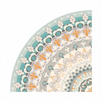 Tovaglietta Americana Rotonda di Design in Pvc e Poliestere, 6 Pezzi - Rondeo