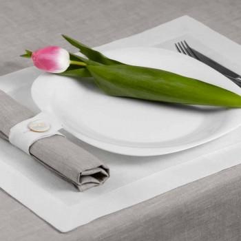 Tovaglietta in Lino Bianco Panna o Naturale Made in Italy – Poppy