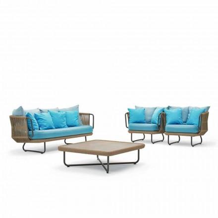 Varaschin Babylon salotto da giardino, divano, 2 poltrone e 1 tavolino