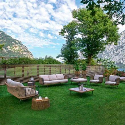 Varaschin Babylon salotto da giardino moderno in alluminio e corda