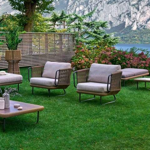 Varaschin babylon salotto da giardino moderno in alluminio for Salotto giardino