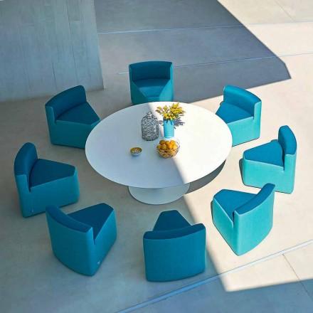 Varaschin Big In&Out tavolo da giardino + 8 poltroncine design moderno