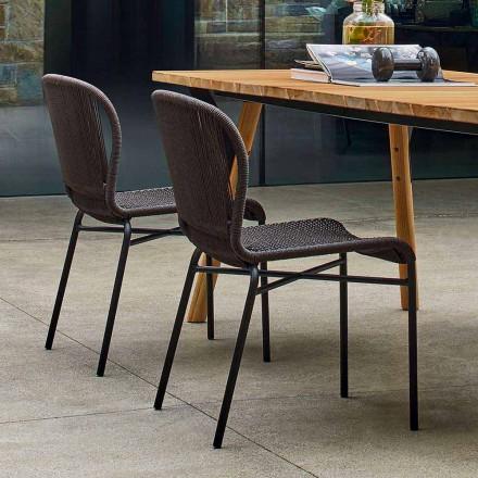 Varaschin Cricket sedia da esterno moderna intrecciata a mano, 2 pezzi