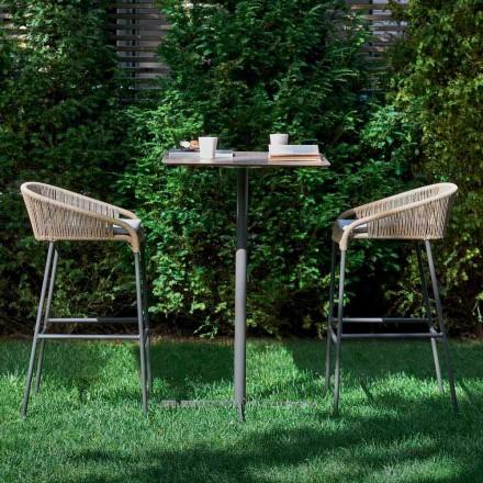 Varaschin Cricket sgabello alto da giardino design moderno, 2 pezzi