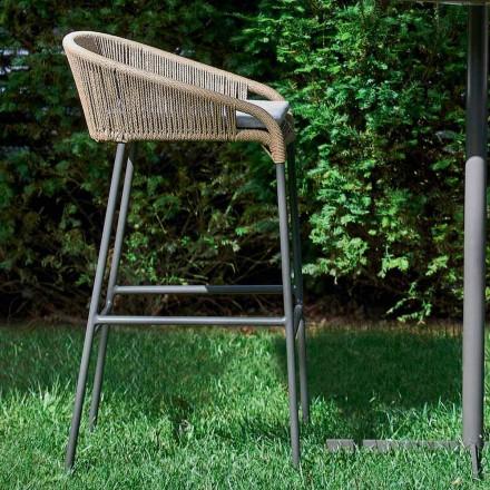 Varaschin Cricket sgabello da giardino moderno in alluminio, 2 pezzi