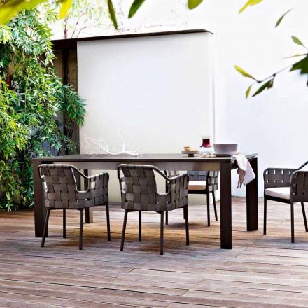 Varaschin Dolmen tavolo allungabile da esterno in alluminio verniciato
