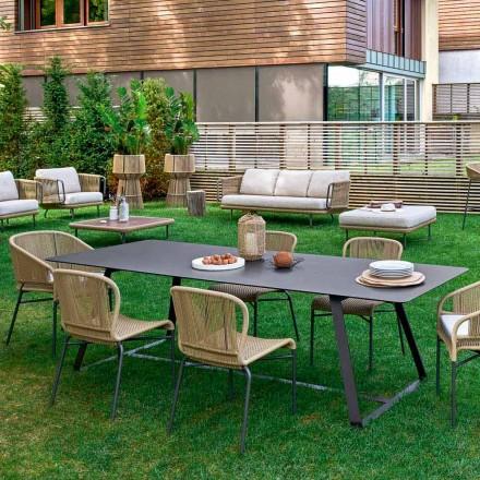 Varaschin Kolonaki tavolo da giardino moderno in diverse dimensioni