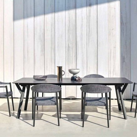 Varaschin Link tavolo allungabile da giardino H 65 cm, fino a 350 cm
