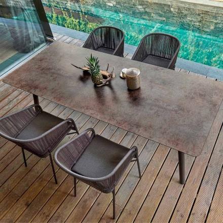 Varaschin Link tavolo da pranzo fisso da esterno o interno H 65 cm