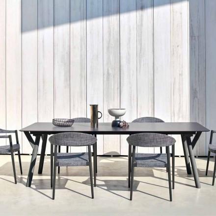 Varaschin Link tavolo da pranzo fisso da giardino o da interno H 75 cm