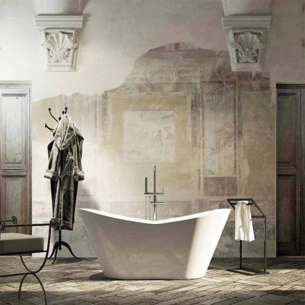 Vasca da bagno freestanding Ragusa, design moderno, made in Italy