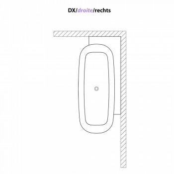 Vasca da Bagno Freestanding di Design Bianco Stile Moderno - Lipperiavas1